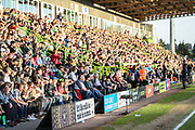 A-Boards in front of Eat Stand during the EFL Sky Bet League 2 second leg Play Off match between Forest Green Rovers and Tranmere Rovers at the New Lawn, Forest Green, United Kingdom on 13 May 2019.