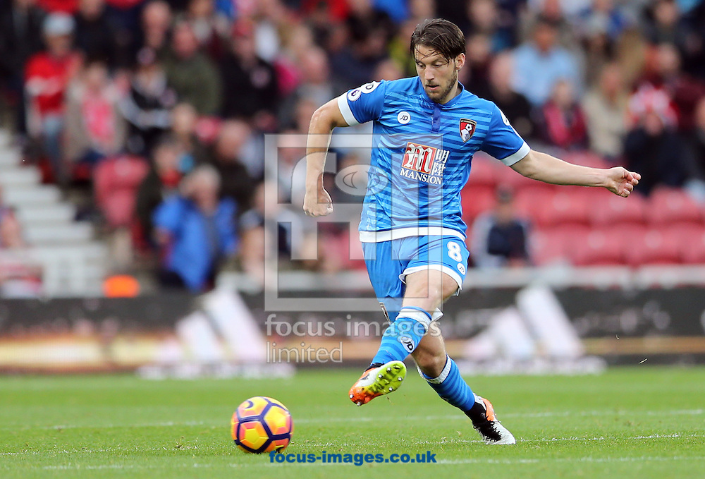 Harry Arter of Bournemouth during the Premier League match at the Riverside Stadium, Middlesbrough<br /> Picture by Simon Moore/Focus Images Ltd 07807 671782<br /> 29/10/2016