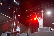 New York's indie pop band AJR plays to an enthusiastic crown Saturday at Music Midtown