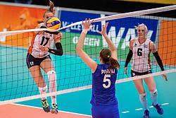 02-04-2017 NED:  CEV U18 Europees Kampioenschap vrouwen dag 2, Arnhem<br /> Nederland - Rusland 3-0 / Indy Baijens #17