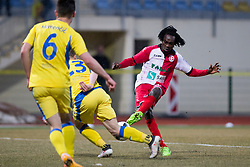 Ibrahim Arafat Mensah of NK Aluminij during football match between NK Domzale and NK Aluminij in Round #24 of Prva liga Telekom Slovenije 2017/18, on March 18, 2018 in Sports park Domzale, Domzale, Slovenia. Photo by Urban Urbanc / Sportida