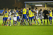 A mass brawl during the Vanarama National League match between Solihull Moors and Forest Green Rovers at the Automated Technology Group Stadium, Solihull, United Kingdom on 25 October 2016. Photo by Shane Healey.