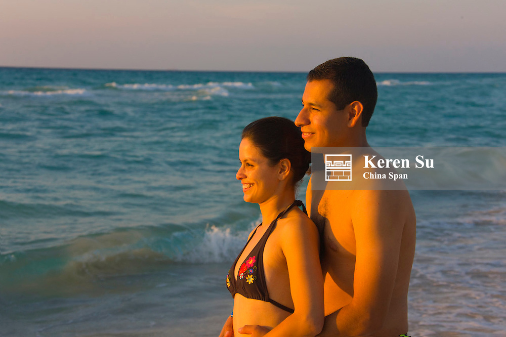 A couple on the beach, Varadero, Cuba