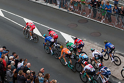Peloton sprinting to finish with KRISTOFF Alexander from NORWAY (67) and TEUNISSEN Mike from NETHERLANDS (31) during Men Elite Road Race 2019 UEC European Road Championships, Alkmaar, The Netherlands, 11 August 2019. <br /> <br /> Photo by Pim Nijland / PelotonPhotos.com <br /> <br /> All photos usage must carry mandatory copyright credit (Peloton Photos | Pim Nijland)