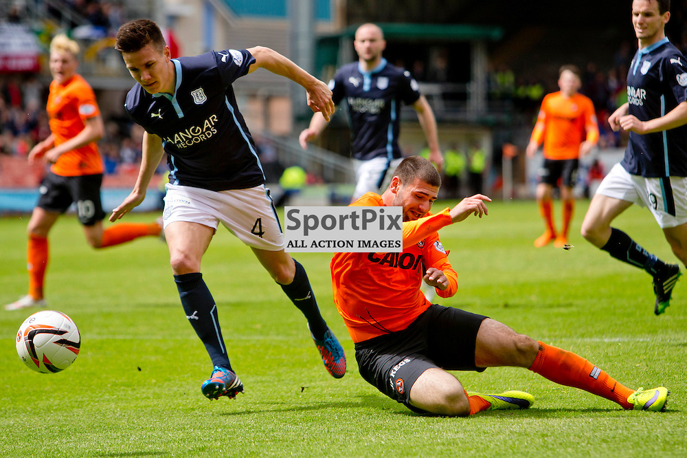 Dundee Utd v Dundee SPFL Premiership Tannadice Park 24 May 2015 <br /> Nadir Cifti is fouled for the penalty by Thomas Konrad<br /> CRAIG BROWN | sportPix.org.uk