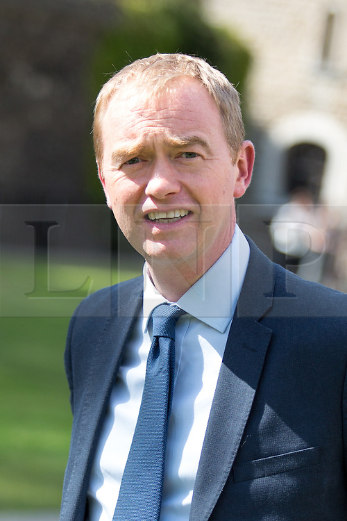 © Licensed to London News Pictures. 06/07/2016. London, UK. Leader of the Liberal Democrats TIM FARRON on College Green on the day the report of the Iraq Inquiry is published. Salmond has called for legal action against Tony Blair following the publication of the Inquiry, which was predicated to take approximately one year, but has taken seven. Photo credit : Tom Nicholson/LNP