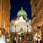Vienna old town streets by night