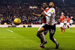 Ashley Cole of Derby County takes on Tendayi Darikwa of Nottingham Forest - Mandatory by-line: Robbie Stephenson/JMP - 25/02/2019 - FOOTBALL - The City Ground - Nottingham, England - Nottingham Forest v Derby County - Sky Bet Championship