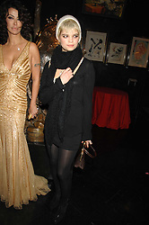 Right PIXIE GELDOF at Andy & Patti Wong's Chinese new Year party held at County Hall and Dali Universe, London on 26th January 2008.<br />