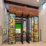 SVA Architects - San Ysidro Public Library, San Ysidro, San Diego, California, De La Torre Brothers, Public Art, Modern Architecture, Traditional Modern Architecture, Mexican Architecture, Public Art Installation, City of San Diego Commission for Arts and Culture