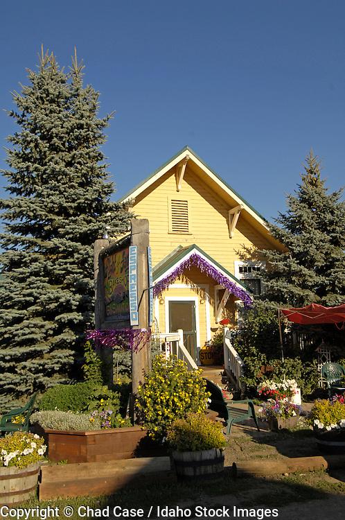 USA. Idaho. Donnelly near Tamarack Resort. Shop along Highway 55.