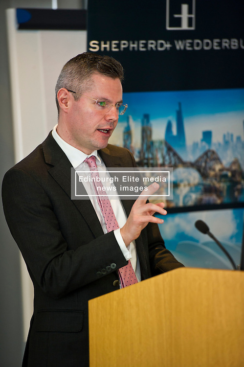 Pictured: <br /> Finance Secretary Derek Mackay delivered an address to Reform Scotland tonight. This is the fourth event, organised by Shepherd and Wedderburn, in the think tank's series of speeches on the Scottish Government's tax and spending plans.<br /> <br /> Ger Harley   EEm 28 February 2017