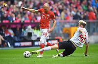 v.l. Arjen Robben (Bayern), Alexander Hack<br /> , 23.04.2017, Fussball, Bundesliga,  23.04.2017, Fussball, Bundesliga, Bayern München  - Mainz 05<br /> Norway only