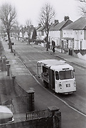 Co Op milk float, West London, UK 1983