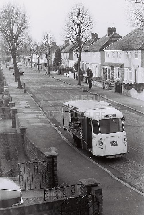 Co Op milk float, West London, UK 1983