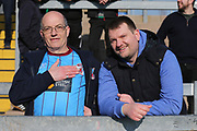 Scunthorpe United fans before the EFL Sky Bet League 1 match between Bristol Rovers and Scunthorpe United at the Memorial Stadium, Bristol, England on 24 February 2018. Picture by Gary Learmonth.