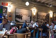 Turkey. Ara Cafe Istanbul. istiklal avenue, main street of the modern city / Istamboul Avenue Istiklal