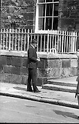 Bomb Damage, Green St. Court.15/07/1976.07/15/1976.15th July 1976..Picture of Justice O'Hogan outside the Special Criminal Court, Little Green Street, after it has been bombed.