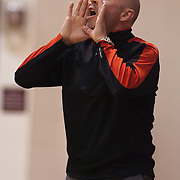 12/27/11 Wilmington DE: Ursuline Academy head coach yells out instruction to his players during a Diamond State Classic game Tuesday Dec. 27, 2011 at St. Elizabeth High School High School in Wilmington Delaware...Special to The News Journal/SAQUAN STIMPSON