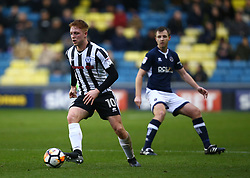 January 27, 2018 - London, United Kingdom - Rochdale's Callum Camps .during FA Cup 4th Round match between Millwall against Rochdale  at The Den, London on 27 Jan 2018  (Credit Image: © Kieran Galvin/NurPhoto via ZUMA Press)
