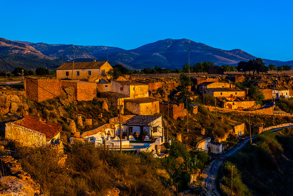 Balcones de Piedad, Los Balcones, near Guadix, Granada Province, Andalusia, Spain. Five cave apartments in this boutique hotel give visitors the opportunity to stay in a luxury suite built into a cave.
