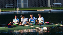 Marko Grace, Gasper Fistravec, Rok Kolander and Jure Grace in category M4- (Coxless four) during rowing at Slovenian National Championship and farewell of Iztok Cop, on September 22, 2012 at Lake Bled, Ljubljana Slovenia. (Photo By Matic Klansek Velej / Sportida)