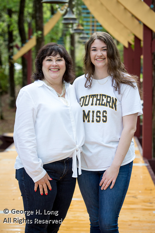 High school senior portrait of Callie Matthews with her mother, Kathryn in Abita Springs; photo ©2018, George H. Long