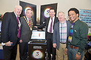 27/01/2014 Mayor of Galway Padraig Conneelly, Bobby Kerr Celebrity Judge, with Dr. John Belcher CBE, John Daly and Colin Alexander of Five Sciences  at the SCCUL Enterprise awards at the Bailey Allen Hall NUIG. Photo:Andrew Downes