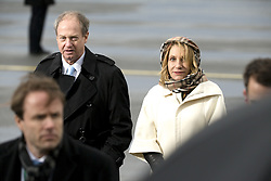 November 18, 2016 - Berlin, Germany - US Ambassador John B. Emerson and his wife Kimberly are pictured prior to the take off of the Air Force One with US President Barack Obama at Tegel airport in Berlin, Germany on November 18, 2016. (Credit Image: © Emmanuele Contini/NurPhoto via ZUMA Press)