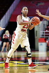 NORMAL, IL - December 04: Viria Livingston during a college women's basketball game between the ISU Redbirds  and the Austin Peay Governors on December 04 2018 at Redbird Arena in Normal, IL. (Photo by Alan Look)