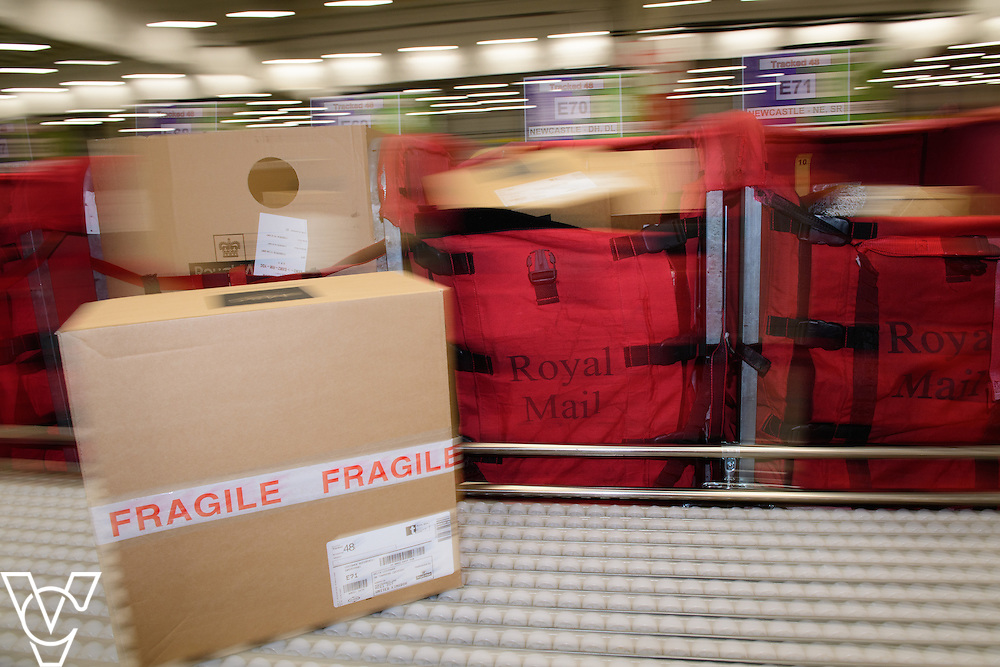 Stock / generic photographs taken at the Royal Mail's Yorkshire Distribution Centre, Normanton.  <br /> <br /> Parcel processing<br /> <br /> Picture: Chris Vaughan Photography<br /> Date: November 15, 2016