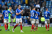 John Marquis (10) of Portsmouth applauds the fans at full time during the EFL Sky Bet League 1 match between Portsmouth and Gillingham at Fratton Park, Portsmouth, England on 12 October 2019.