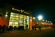 General view of the Pirelli Stadium during the EFL Cup match between Burton Albion and Nottingham Forest at the Pirelli Stadium, Burton upon Trent, England on 30 October 2018.