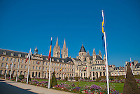 Panorama of the Abbey aux Hommes in Caen, France