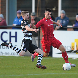 TELFORD COPYRIGHT MIKE SHERIDAN Aaron Williams of Telford  during the Vanarama Conference North fixture between Darlington and AFC Telford United at Blackwell Meadows on Saturday, November 30, 2019.<br /> <br /> Picture credit: Mike Sheridan/Ultrapress<br /> <br /> MS201920-032
