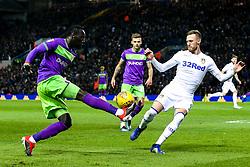 Famara Diedhiou of Bristol City takes on Barry Douglas of Leeds United - Mandatory by-line: Robbie Stephenson/JMP - 24/11/2018 - FOOTBALL - Elland Road - Leeds, England - Leeds United v Bristol City - Sky Bet Championship