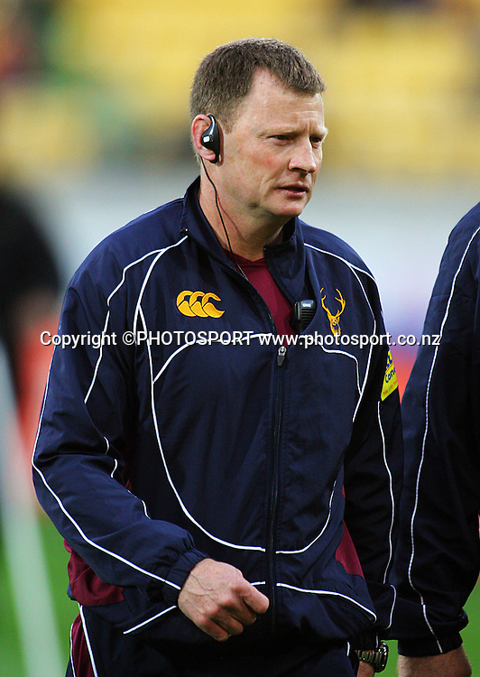 Southland coach Simon Culhane.<br /> Air NZ Cup semi-final. Wellington Lions v Southland Stags at Westpac Stadium, Wellington, New Zealand, Friday, 17 October 2008. Photo: Dave Lintott/PHOTOSPORT