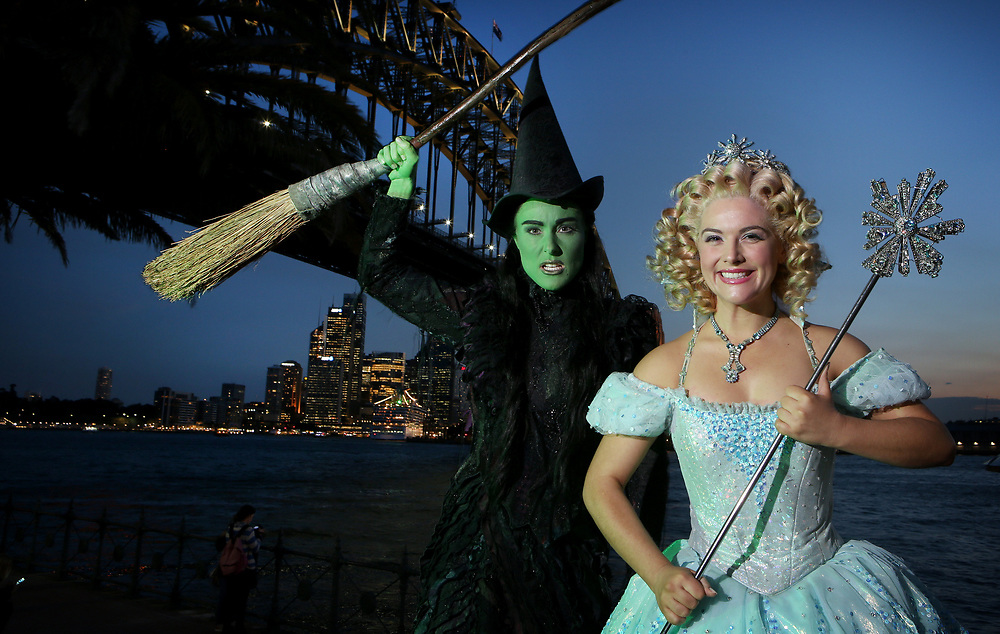The Witches are back in Sydney! Sydney season of the musical  WICKED! which officially opens at the Capitol Theatre. The two leads Glinda The Good Witch (played by Lucy Durack) and Elphaba The Wicked Witch (played by Jemma Rix). Picture Chris Pavlich
