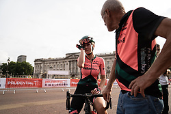 Marit Raaijmakers (NED) of Parkhotel Valkenburg Cycling Team abandons the Prudential RideLondon Classique, a 68 km road race starting and finishing in London, United Kingdom on August 3, 2019. Photo by Balint Hamvas/velofocus.com
