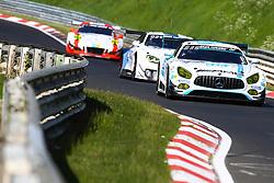 May 25, 2017 - Nurburgring, ALLEMAGNE - 1 MERCEDES AMG TEAM BLACK FALCON (DEU) MERCEDES AMG GT3 SP9 MARO ENGEL (DEU) ADAM CHRISTODOULOU (GBR) YELMER BUURMAN (NDL) MANUEL METZGER  (Credit Image: © Panoramic via ZUMA Press)