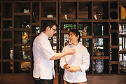 Chefs Duangporn Songvisava (Bo) and Dylan Jones at Bo.lan restaurant