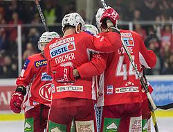 22.03.2019, Stadthalle, Klagenfurt, AUT, EBEL, EC KAC vs HCB Suedtirol Alperia, Viertelfinale, 5. Spiel, im Bild Thomas KOCH (EC KAC, #18), Andrew KOZEK (EC KAC, #10), Matt NEAL (EC KAC, #50), David FISCHER (EC KAC, #3), Adam COMRIE (EC KAC, #44) // during the Erste Bank Icehockey 5th quarterfinal match between EC KAC and HCB Suedtirol Alperia at the Stadthalle in Klagenfurt, Austria on 2019/03/22. EXPA Pictures © 2019, PhotoCredit: EXPA/ Gert Steinthaler