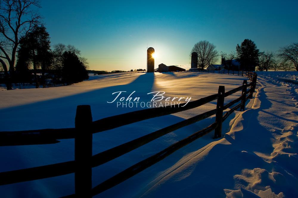 Snow .12/20/09 snow, farm