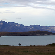 A view of Lake Tekapo and the Mackenzie Country, South Island, New Zealand. 24th February 2011, Photo Tim Clayton