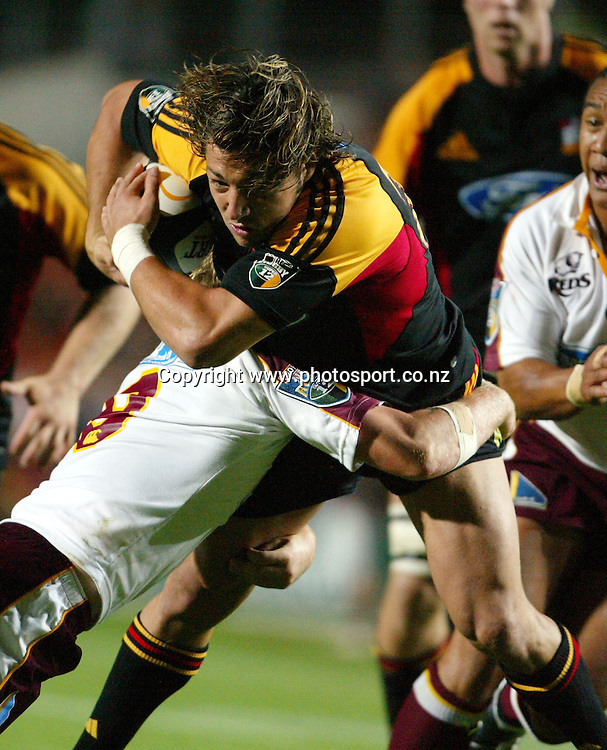 Byron Kelleher during the Rebel Sport Super 12 Rugby Union match between the Chiefs and the Reds at Waikato Stadium, Hamilton, New Zealand on Friday 18 March, 2005. Photo: Photosport<br />