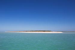 Sandy beach at Adele Island, a small island in the Indian Ocean off the Kimberley coast.