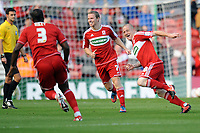 NPower Championship Middlesbrough vs. Leicester City <br /> Nicky Bailey (Middlesbrough) celebrates his goal at The Riverside.