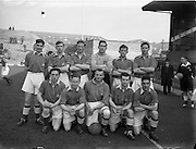 18/3/1953<br /> 3/18/1953<br /> 18 March 1953 <br /> Soccer, football: Limerick v Longford replay at Dalymount Park, Dublin. The  Longford team.