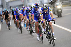 March 18, 2017 - San Remo, Italie - SANREMO, ITALY - MARCH 18 : VERMOTE Julien (BEL) Rider of Quick-Step Floors Cycling team is leading the peloton during the UCI WorldTour 108th Milan - Sanremo cycling race with start in Milan and finish at the Via Roma in Sanremo on March 18, 2017 in Sanremo, Italy, 18/03/2017  (Credit Image: © Panoramic via ZUMA Press)