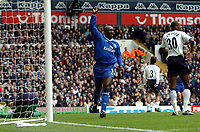 Picture: Henry Browne.Digitalsport<br /> Date: 03/04/2004.<br /> Tottenham Hotspur v Chelsea FA Barclaycard Premiership.<br /> <br /> Hasselbaink celebrates after scoring Chelsea's first goal.